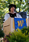 Nevada Regent Carol Del Carlo speaks at the Western Nevada College commencement ceremony in Carson City, Nev., on Monday, May 20, 2019. <br /> Photo by Cathleen Allison/Nevada Momentum