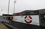 Barnet 2 Morecambe 0, 16/12/2017. The Hive, League Two. A sign advertising some of the businesses at The Hive, home of Barnet FC. Photo by Paul Thompson.