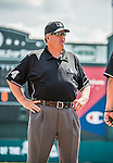 21 March 2015: MLB Umpire Jerry Layne officiates a Spring Training game between the Washington Nationals and the Atlanta Braves at Champion Stadium at the ESPN Wide World of Sports Complex in Kissimmee, Florida. The Braves defeated the Nationals 5-2 in Grapefruit League play. Mandatory Credit: Ed Wolfstein Photo *** RAW (NEF) Image File Available ***