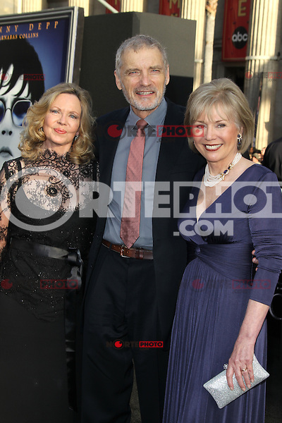 Lara Parker, David Selby and Kathryn Leigh Scott of the original Dark Shadows TV Show at the premiere of Warner Bros. Pictures' 'Dark Shadows' at Grauman's Chinese Theatre on May 7, 2012 in Hollywood, California. ©mpi26/ MediaPunch Inc.