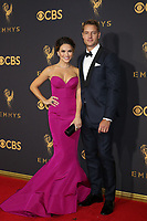 LOS ANGELES - SEP 17:  Chrishell Stause, Justin Hartley at the 69th Primetime Emmy Awards - Arrivals at the Microsoft Theater on September 17, 2017 in Los Angeles, CA