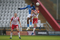 Charlie Lakin of Stevenage and Ivan Toney of Peterborough United during Stevenage vs Peterborough United, Emirates FA Cup Football at the Lamex Stadium on 9th November 2019