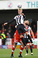 Ludvig Öhman of Grimsby Town and Ollie Palmer of Crawley Town during Crawley Town vs Grimsby Town, Sky Bet EFL League 2 Football at Broadfield Stadium on 9th March 2019