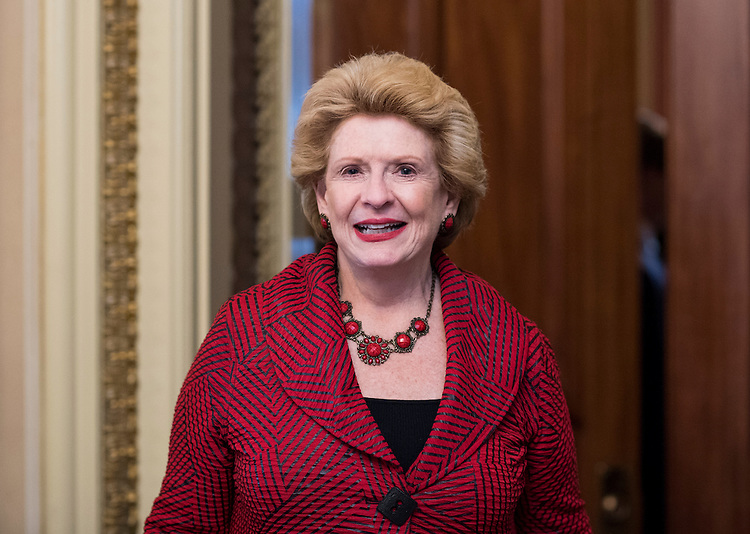 UNITED STATES - SEPTEMBER 7: Sen. Debbie Stabenow, D-Mich., leaves the Senate Democrats' weekly policy lunch in the Capitol on Wednesday, Sept. 7, 2016. (Photo By Bill Clark/CQ Roll Call)