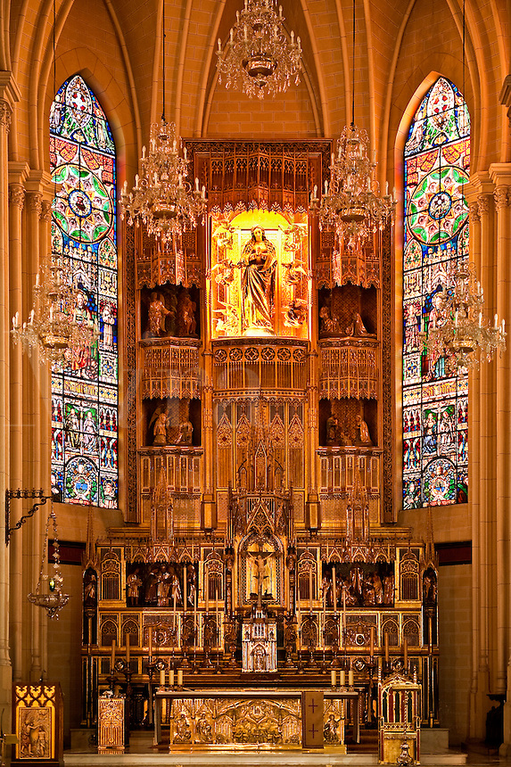 Chapel alter, Almudena Cathedral, Madrid, Spain