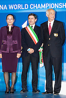 Roma 2nd AUGUST 2009 - 13th Fina World Championships ..From 17th to 2nd August 2009..Closing Ceremony..Gianni Alemanno MAjor of Rome..The major of Shanghai..Moustapha Larfaoui honorary president of FINA.......Roma2009.com/InsideFoto/SeaSee.com