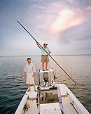 USA, Florida, fishing for Redfish on boat, New Smyrna Beach