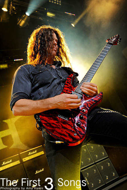 Chris Broderick of Megadeth performs during the 2011 Rockstar Energy Drink Mayhem Festival on July 20, 2011 at Riverbend Music Center in Cincinnati, Ohio.