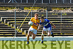James McCarrick Glenflesk and Martin Reilly Templenoe in action during the Intermediate Championship semi final in Fitzgerald Stadium on Sunday