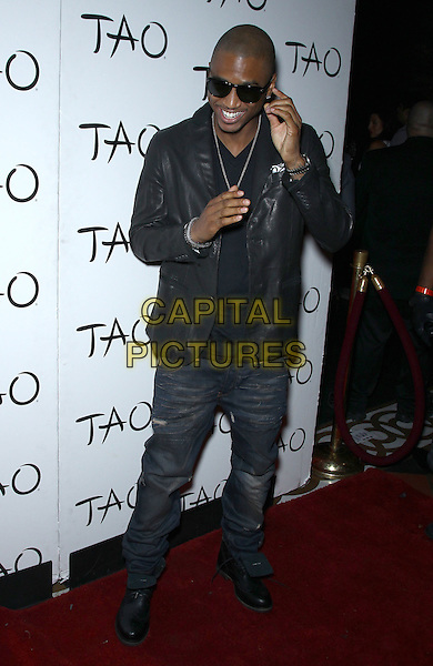 Trey Songz (Tremaine Aldon Neverson).Special Appearance by Trey Songz at TAO inside the Venetian Las Vegas for Memorial Day Weekend, Las Vegas, Nevada, USA, 25th May 2012..full length  black leather jacket sunglasses jeans .CAP/ADM/MJT.© MJT/AdMedia/Capital Pictures.