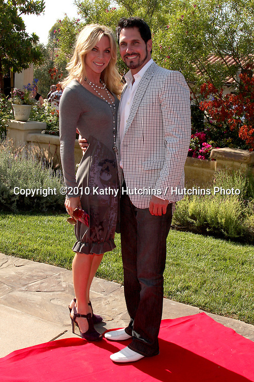 Cindy Ambuel & Don Diamont.arrives at the Birgit C. Muller Fashion Show at.Chaves Ranch in.Los Angeles, CA on.July 11, 2010.©2010 Kathy Hutchins / Hutchins Photo.....