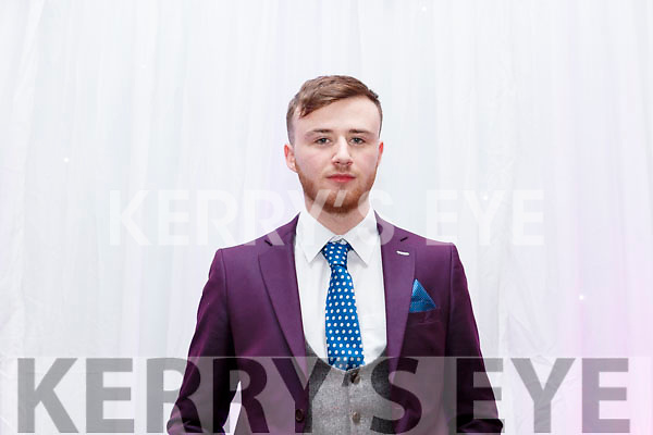 Aaron Lynch (Fenit) on stage at the Brides of Kerry Wedding Industry Awards in the Ballyroe Heights Hotel on Sunday evening last.