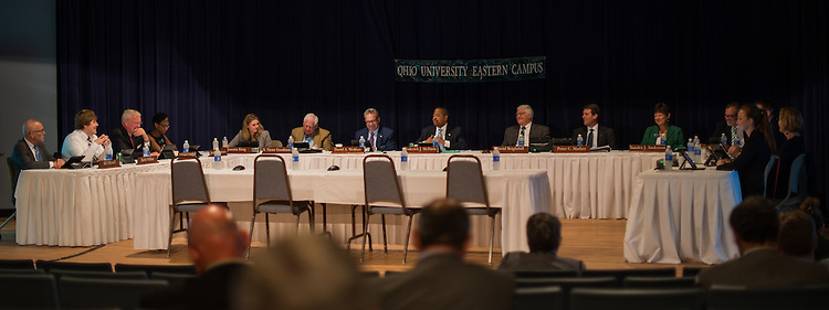 The Ohio University Board of Trustees meets at Eastern Campus in St Clairsville on Friday, June 27. Photo by Ben Siegel/ Ohio University