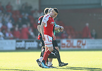 Fleetwood Town&rsquo;s Bobby Grant after treatment from head collision.<br /> <br /> Photographer Leila Coker/CameraSport<br /> <br /> The EFL Sky Bet League One - Fleetwood Town v Walsall - Saturday 5th May 2018 - Highbury Stadium - Fleetwood<br /> <br /> World Copyright &copy; 2018 CameraSport. All rights reserved. 43 Linden Ave. Countesthorpe. Leicester. England. LE8 5PG - Tel: +44 (0) 116 277 4147 - admin@camerasport.com - www.camerasport.com