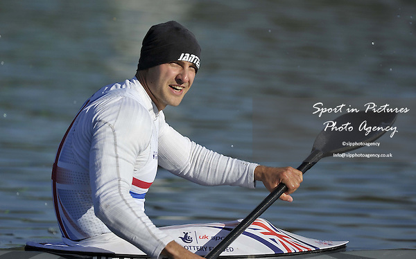 Liam Heath. Mens K1 200m FinalDay 2. British Canoeing Sprint Olympic trials. National Water Sports Centre. Holme Pierrepont. Nottingham. UK. 18/04/2016. ~ MANDATORY Credit Garry Bowden/Sportinpictures - NO UNAUTHORISED USE - 07837 394578