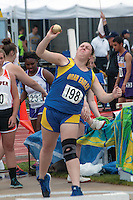 Oran's Toni Hency finished 12th in the Class 1 Girls Shot Put with a best mark of 30-11.75.