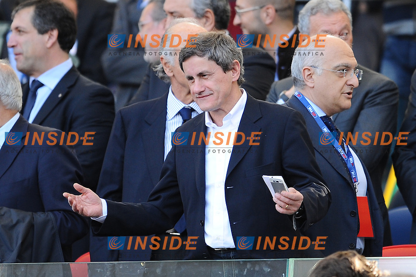 Gianni Alemanno.Tribuna.26/05/2013 Roma.Stadio Olimpico.Football Calcio 2012 / 2013 .Tim Cup Finali di Coppa Italia.Roma vs Lazio.Foto Insidefoto / Antonietta Baldassarre.
