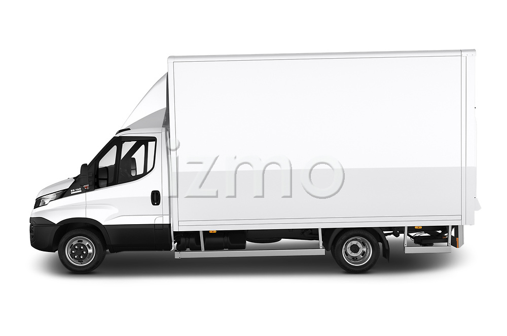 Car Driver side profile view of a 2018 Iveco Daily - 4 Door Cargo Van Side View
