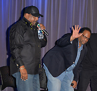 "LOS ANGELES, CA- FEB. 08: Alonzo ""Lonzo"" Williams, Atron Gregory at the From Compton to Cornell: Preserving The History of Hip Hop In the Hub City at the Grammy Museum in Los Angeles, California on February 8, 2018 Credit: Koi Sojer/ Snap'N U Photos/Media Punch"
