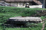 A pillbox guarding the Paul Doumer Bridge in Hanoi, North Vietnam.  (Jim Bryant Photo).....
