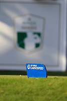 DP World tee marker on the 16th tee during the final round of the DP World Tour Championship, Jumeirah Golf Estates, Dubai, United Arab Emirates. 18/11/2018<br /> Picture: Golffile | Fran Caffrey<br /> <br /> <br /> All photo usage must carry mandatory copyright credit (© Golffile | Fran Caffrey)