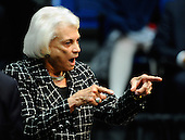"Former United States Supreme Court Justice Sandra Day O'Connor attends the event ""Together We Thrive: Tucson and America"" honoring the January 8 shooting victims at McKale Memorial Center on the University of Arizona campus on Wednesday, January 12, 2011 in Tucson, Arizona. The memorial service is in honor of victims of the mass shooting at a Safeway grocery store that killed six and injured at least 13 others, including U.S. Representative Gabrielle Giffords (Democrat of Arizona), who remains in critical condition after being shot in the head. Among those killed were U.S. District Judge John Roll, 63; Giffords' director of community outreach, Gabe Zimmerman, 30; and 9-year-old Christina Taylor Green.  .Credit: Kevork Djansezian / Pool via CNP"