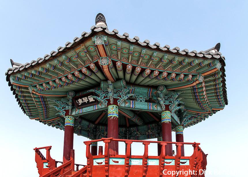 Pavillon in Sokcho, Provinz Gangwon, S&uuml;dkorea, Asien<br /> pavilion in  Sokcho, province Gangwon, South Korea, Asia