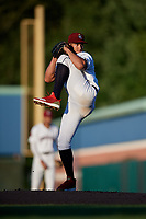 Mahoning Valley Scrappers starting pitcher Daniel Espino (15) during a NY-Penn League game against the State College Spikes on August 29, 2019 at Eastwood Field in Niles, Ohio.  State College defeated Mahoning Valley 8-1.  (Mike Janes/Four Seam Images)