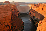 Glen Canyon Dam on the Colorado River in Page, Arizona.