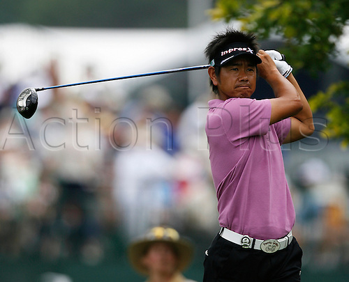 13 August 2009:  Hiroyuki Fujita of Japan hits a shot during the first round of the 91st PGA Championship at Hazeltine National Golf Club in Chaska, Minnesota. (photo Charles Baus/Actionplus)