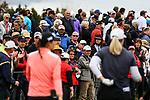 Spectators watch Lydia Ko. McKayson NZ Women's Golf Open, Round Two, Windross Farm Golf Course, Manukau, Auckland, New Zealand, Friday 29 September 2017.  Photo: Simon Watts/www.bwmedia.co.nz