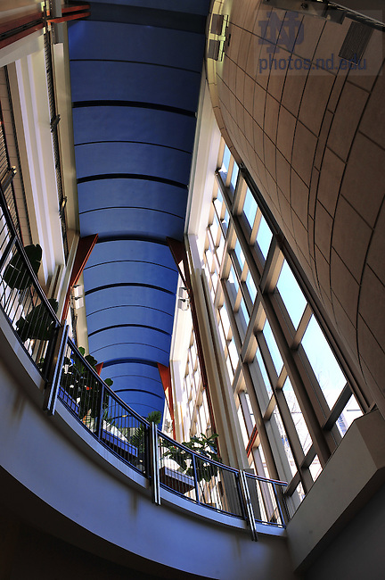 Interior of the Mendoza College of Business...Photo by Matt Cashore/University of Notre Dame