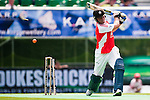 Action from day one of the Karp Group Hong Kong Cricket Sixes at the Kowloon Cricket Club on October 28, 2011 in Hong Kong. Photo by © Mike Pickles / The Power of Sport Images for HKCA