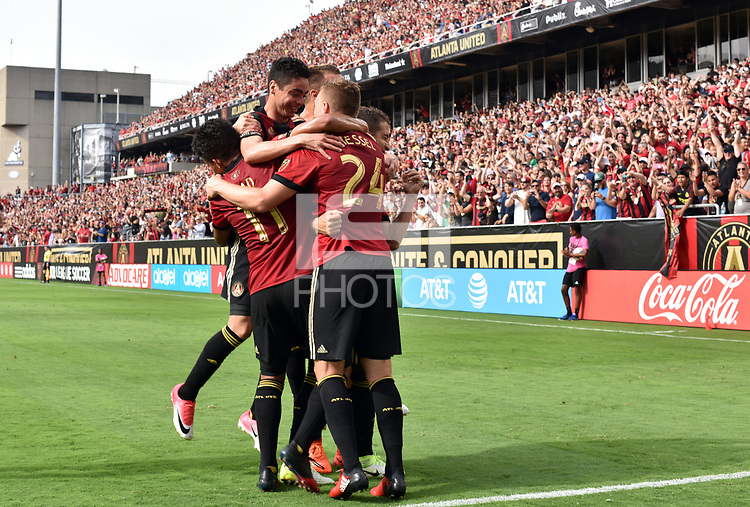 Atlanta, Georgia - Sunday, May 28, 2017: Atlanta United played in front of their fifth consecutive home sellout crowd, defeating the New York City FC, 3-1.