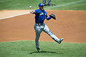 Josh Donaldson (Blue Jays),<br /> AUGUST 9, 2015 - MLB :<br /> Josh Donaldson of the Toronto Blue Jays throws the ball during the Major League Baseball game against the New York Yankees at Yankee Stadium in the Bronx, New York, United States. (Photo by Thomas Anderson/AFLO) (JAPANESE NEWSPAPER OUT)