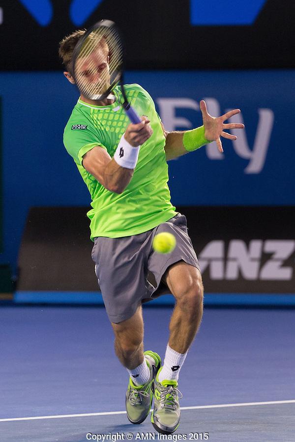 Tim Smyczek (USA)<br /> <br /> Tennis - Australian Open 2015 - Grand Slam -  Melbourne Park - Melbourne - Victoria - Australia  - 21 January 2015. <br /> &copy; AMN IMAGES