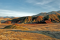 The Painted Hills unit in Winter. Apart of the John Day Fossil Beds National Monument in central Oregon.