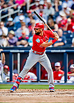 26 February 2019: St. Louis Cardinals infielder Matt Carpenter at bat during a Spring Training game against the Washington Nationals at the Ballpark of the Palm Beaches in West Palm Beach, Florida. The Cardinals defeated the Nationals 6-1 in Grapefruit League play. Mandatory Credit: Ed Wolfstein Photo *** RAW (NEF) Image File Available ***