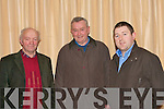 DAIRY FARMERS: Just some of the dairy farmers attending the Kerry ICMSA meeting into falling milk prices held at the Fels Point hotel on Monday l-r: Michael Rohan, Camp, Ted McCarthy, The Spa and Edward O'Sullivan (ICMSA area development officer).