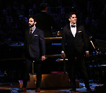 Ramin Karimloo and Ryan Silverman during the Broadway Classics in Concert at Carnegie Hall on February 20, 2018 at Carnegie Hall in New York City.