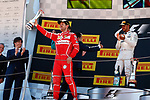 Spanish F1 Grand Prix Pirelli 2017.<br /> Sebastian Vettel (Ferrari) &amp; Lewis Hamilton (Mercedes).