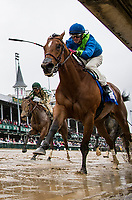 LOUISVILLE, KY - MAY 05:  Big World #3 with Florent Geroux wins the La Troienne Stakes at Churchill Downs on May 5, 2017 in Louisville, Kentucky. (Photo by Alex Evers/Eclipse Sportswire/Getty Images)