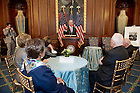 May 22, 2013; Vice President Joe Biden speaks during a special reception for University President Emeritus Rev. Theodore M. Hesburgh, C.S.C., celebrating his 96th birthday in the Rayburn Room of the U.S. Capitol. The reception was also held to a honor his 70th anniversary as a priest of the Congregation of Holy Cross. Photo by Barbara Johnston/University of Notre Dame
