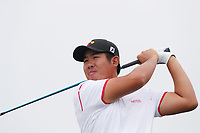 Beyond Hun An (KOR) tees off on the 12th hole during the Wednesday practice round of the 118th U.S. Open Championship at Shinnecock Hills Golf Club in Southampton, NY, USA. 13th June 2018.<br /> Picture: Golffile | Brian Spurlock<br /> <br /> <br /> All photo usage must carry mandatory copyright credit (&copy; Golffile | Brian Spurlock)