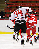 Kristi Kehoe (NU - 34) - The Northeastern University Huskies defeated the Boston University Terriers in a shootout after being tied at 4 following overtime in their Beanpot semi-final game on Tuesday, February 2, 2010 at the Bright Hockey Center in Cambridge, Massachusetts.