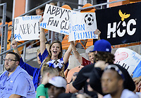 Houston, TX - Saturday July 22, 2017: Fans during a regular season National Women's Soccer League (NWSL) match between the Houston Dash and the Boston Breakers at BBVA Compass Stadium.