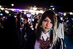 Tokyo, April 27 2013 - Mizuki at Propaganda party in Tokyo. Once a month, around 300 people gather to celebrate men dressed as girls. Josou (???can be married men who wish to have a new experience by dressing as women.