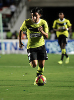 CALI- COLOMBIA -22 -01-2014: Sherman Cardenas, jugador de Atletico Nacional durante partido de ida por la Super Liga 2014, en el estadio Pascual Guerrero de la ciudad de Cali.  / Sherman Cardenas, player of Atletico Nacional, during the match between Deportivo Cali and Atletico Nacional for the first leg of the Super Liga 2014 at the Pascual Guerrero Stadium in Cali city. Photo: VizzorImage  / Luis Ramirez / Staff.