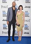 SANTA MONICA, CA - FEBRUARY 25: Actors Darrin Charles (L) and Alizee Gaillard attend the 2017 Film Independent Spirit Awards at the Santa Monica Pier on February 25, 2017 in Santa Monica, California.