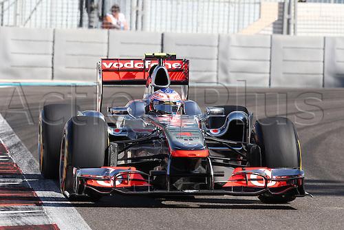 11.11.2011 Abu Dhabi, United Arab Emirates. Yas Marina Circuit, Jenson Button, McLaren Mercedes, .., during the practice day of the FIA Formula One Grand Prix of Abu Dhabi UAE.
